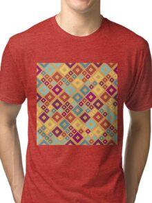 Seamless pattern. Random colored geometric squares. Tri-blend T-Shirt