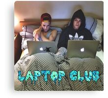 Joe and Caspar Laptop Club Canvas Print