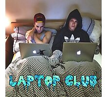 Joe and Caspar Laptop Club Photographic Print