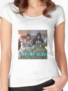 Joe and Caspar Laptop Club Women's Fitted Scoop T-Shirt