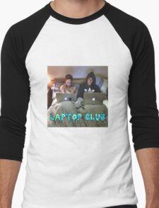 Joe and Caspar Laptop Club Men's Baseball ¾ T-Shirt