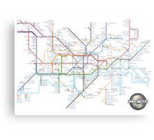 Tube Map as Film Genres Metal Print