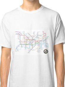 Tube Map as Film Genres Classic T-Shirt