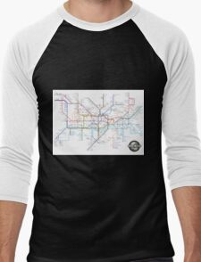 Tube Map as Film Genres Men's Baseball ¾ T-Shirt