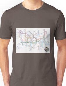 Tube Map as Film Genres Unisex T-Shirt