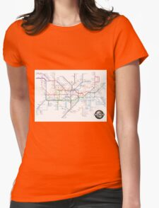 Tube Map as Film Genres Womens Fitted T-Shirt