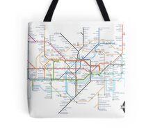 Tube Map as Film Genres Tote Bag