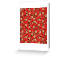 Seamless  Red Pattern Flower Greeting Card