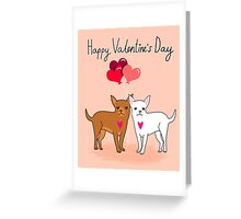 Chihuahua Valentines day cute gift for dog person love  Greeting Card