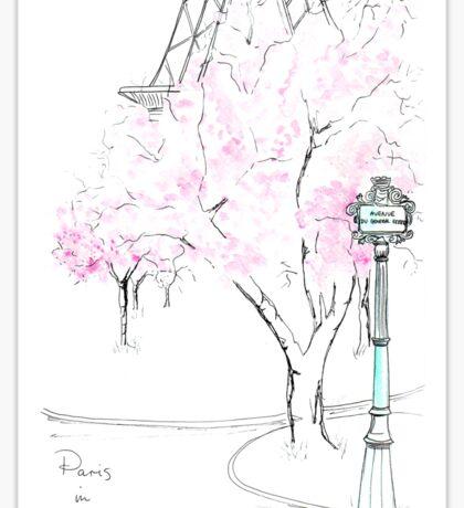 Paris in Bloom Sticker