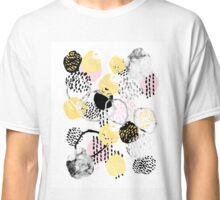 Amalia - gold foil black and white rosequartz texture ink painting art Classic T-Shirt