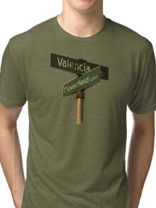 Valencia Ave & Cloverfield Lane Tri-blend T-Shirt