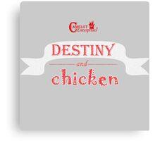 Camelot Enterprises / Destiny and Chicken Canvas Print