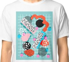The 411 - abstract grid 1980s style throwback retro pattern dots swirl blob paint pop art Classic T-Shirt