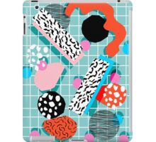 The 411 - abstract grid 1980s style throwback retro pattern dots swirl blob paint pop art iPad Case/Skin