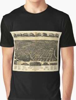 Aerial View of Fort Worth Tarrant County Texas (1886) Graphic T-Shirt