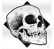 Skull line drawing Poster