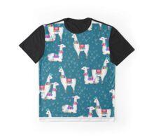 Watercolor llamas Graphic T-Shirt