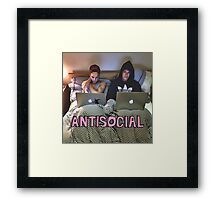 Joe and Caspar Antisocial Framed Print