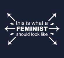 What A Feminist Looks Like One Piece - Short Sleeve