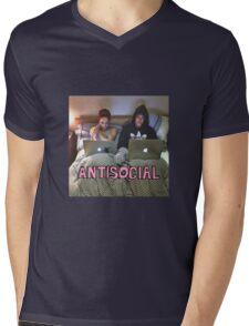 Joe and Caspar Antisocial Mens V-Neck T-Shirt