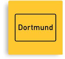 Dortmund, Road Sign, Germany Canvas Print