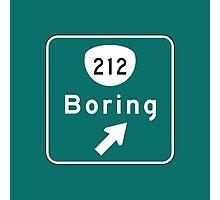 Boring Road Sign, Oregon Photographic Print