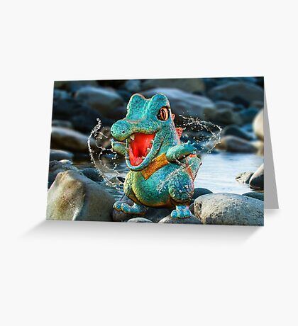 Realistic Pokemon: Totodile Greeting Card