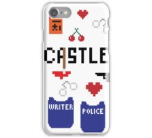 Castle in pixels iPhone Case/Skin