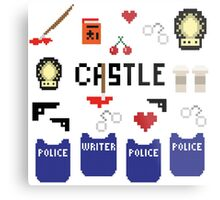 Castle in pixels Metal Print