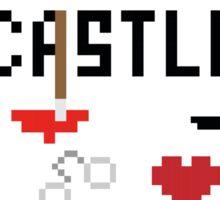 Castle in pixels Sticker