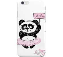 Panda Girl ballet dancer,hand drawn iPhone Case/Skin