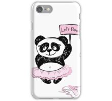 Panda Girl ballet dancer,hand drawn iPhone Case/Skin
