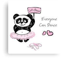 Panda Girl ballet dancer,hand drawn Canvas Print
