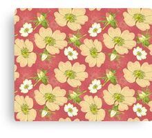 Seamless Background Wild Rose Canvas Print