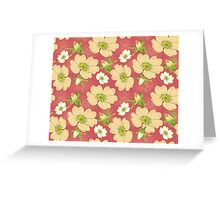 Seamless Background Wild Rose Greeting Card
