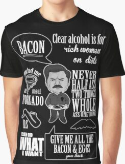 Ron Swanson Montage  Graphic T-Shirt