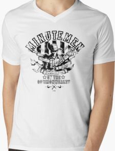 Minutemen Of The Commonwealth Mens V-Neck T-Shirt