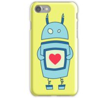 Cute Clumsy Robot With Heart iPhone Case/Skin