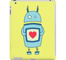 Cute Clumsy Robot With Heart iPad Case/Skin
