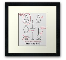 Breaking Bad: Flasks Framed Print