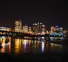 RICHMOND, VIRGINIA AT NIGHT by L.A. Mathews