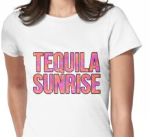 Tequila Sunrise Womens Fitted T-Shirt