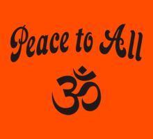 Peace to All (Namaste) Kids Clothes
