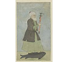 Saint Khwaja Khadir with a sword in his hand. standing on a fish, Anonymous,  Photographic Print