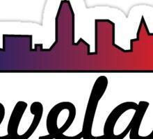 cleveland indians themed skyline Sticker
