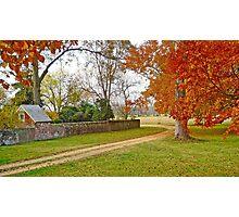 Autumn at Westover Plantation Photographic Print