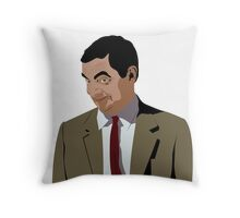 Mr bean meme Throw Pillow