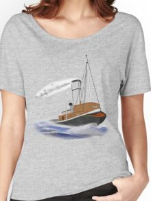 Sea Going Steam Tugboat T-shirt Women's Relaxed Fit T-Shirt