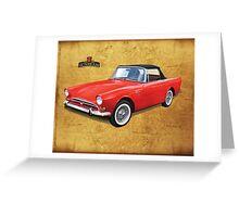 Sunbeam Alpine UK Greeting Card